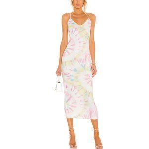 AFRM 'Amina' Tie Dye Midi Dress sz S/P